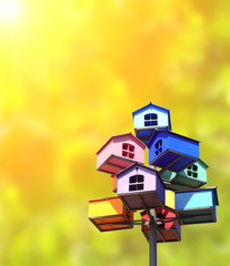 Colorful nesting boxes