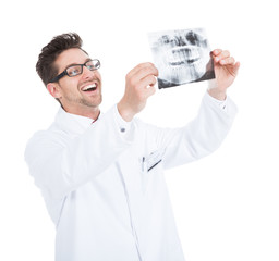 Doctor Examining Dental X-Ray