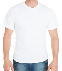 Man Wearing White Tshirt