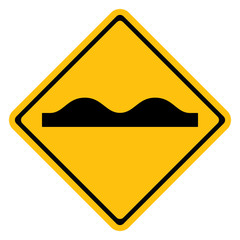 Warning traffic sign, Uneven road