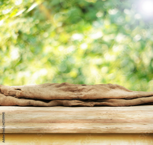 canvas print picture empty table