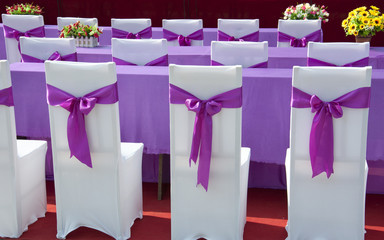 purple ribbon  chair