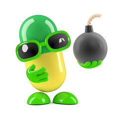 3d Pill has a bomb