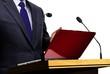 Man Giving Speech at Seminar Presentation