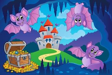 Bats in fairy tale cave © Klara Viskova