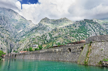 Fortification wall of town Kotor