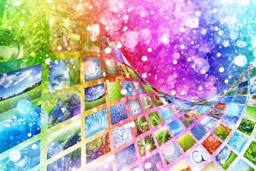 Collage of images background