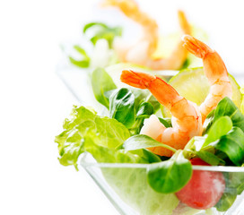 Shrimp or Prawn Cocktail. Isolated on a White Background