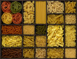 canvas print picture - various noodles