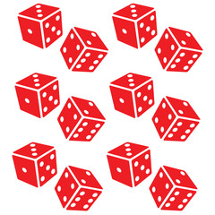 Red dice. Raster Red  #1