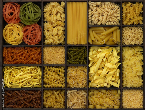 canvas print picture various noodles