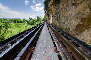 Railway Bridge at tham krasae Kanchanaburi thailand