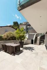 Modern house, outdoors