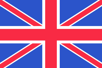 British flag. Vector