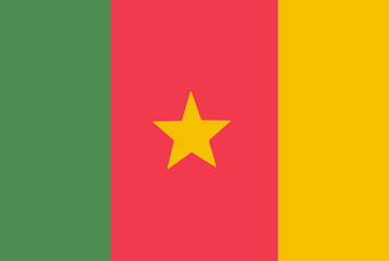 Cameroon flag. Vector