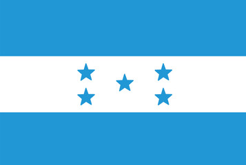 Honduras flag. Vector