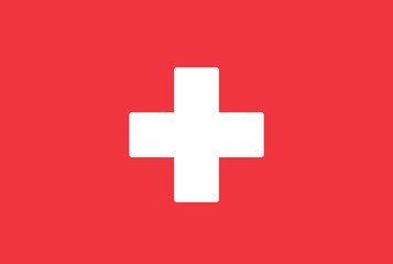 Switzerland flag. Vector
