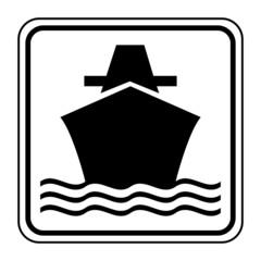 Logo transport maritime. Bateau.