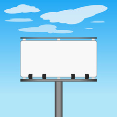 Advertising poster billboard vector