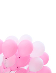 festive balloons on a white background