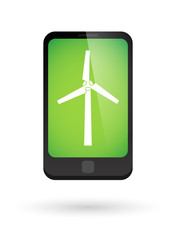 Phone icon with a wind generator