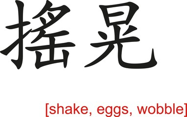 Chinese Sign for shake, eggs, wobble