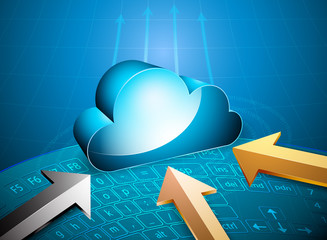 Glossy cloud computing,Remote server technology background