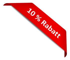 Schild Ecke 10 % Rabatt