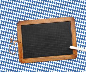 Tafel auf Oktoberfest Hintergrund