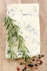 gorgonzola cheese on a wooden board