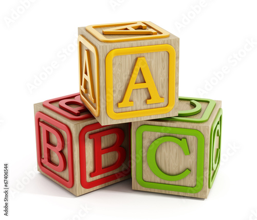 Zdjęcia na płótnie, fototapety, obrazy : Toy blocks isolated on white