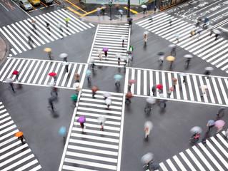 Straßenkreuzung in Tokyo