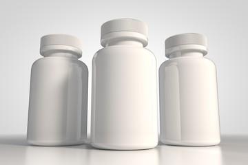 White bottle for medecine 3d