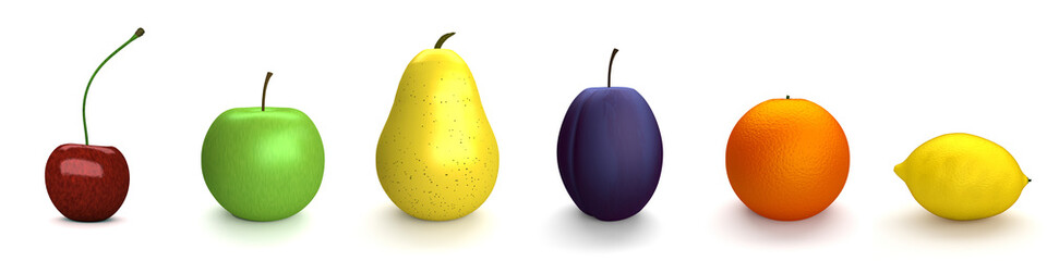 Obst - Variation - 3D - render