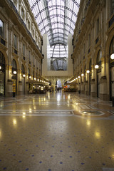 Galleria Vittorio Emanuele in Milan. Color image