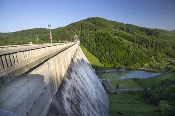 Mountain energy dam