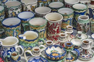 Romanian pottery: mugs