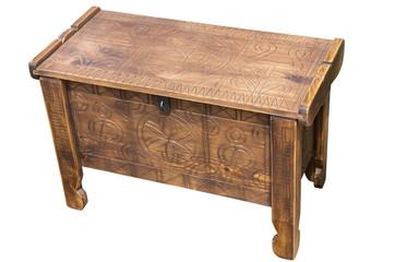 Wood coffer