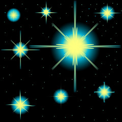set of vector stars