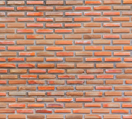 Red brick as a wall