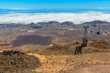 Cable car to the top of Teide Volcano