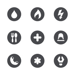Vector social services icons set
