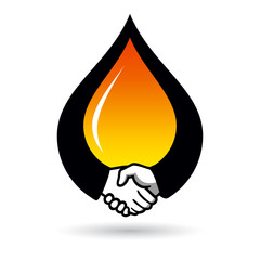 Oil deal sign