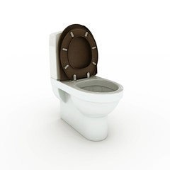 white toilette