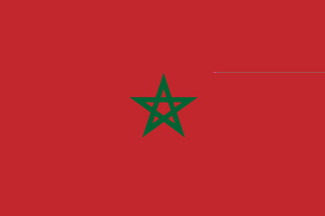 National flag of Kingdom of Morocco