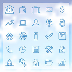 25 bank icons set