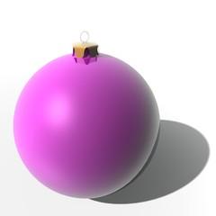 Roze kerst bal