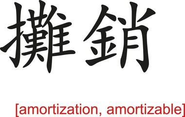 Chinese Sign for amortization, amortizable