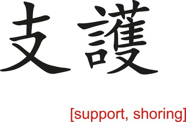 Chinese Sign for support, shoring