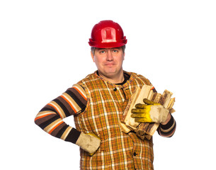 Carpenter in helmet